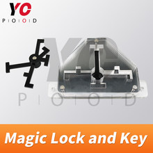 Magic lock and key Escape room props put the key into right position to unlock with light effect takagism game prop from YOPOOD