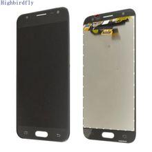 Highbirdfly для samsung Galaxy J3 (2017) J330 J330F/DS J330G/DS ЖК Экран Дисплей с сенсорным Стекло планшета Ассамблеи