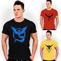 S-XXXL Pokemon Go Team T shirts Men's Shorts Sleeve Tops Tees Casual T shirts  Valor Team Mystic Team Instinct Pokeball T shirt