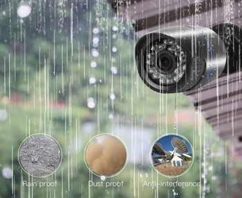 GADINAN 960H Analog CCTV Camera 800TVL/1000TV CMOS IR Cut Filter Night Vision Video Outdoor Waterproof Bullet Surveillance Cam