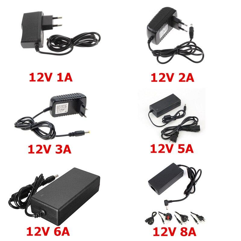 font b LED b font Adapter 12V 1A 2A 3A 5A 6A 8A font b