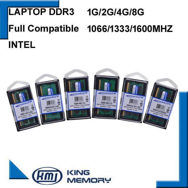 128ona nova marca selada ddr3 1066 mhz/1333 mhz/1600 mhz 2 gb/4 gb/8 ram de memória sodimm de pinos 204 para notebook laptop 1.35/1.5
