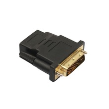 1080P DVI 24+1 To HDMI Adapter Cables 24k Gold Plated Plug Male To Female HDMI To DVI Cable Converter For HDTV Projector Monitor