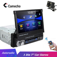 Camecho Car Stereo audio Radio Bluetooth 1DIN 7 HD Autoradio Touch Screen Monitor DVD MP5 SD FM USB Player Rear View Camera