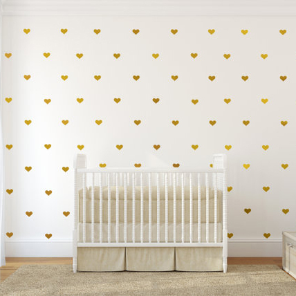 Heart Wall Sticker Baby Nursery Love Heart Wall Decal Kids Room DIY Easy Wall  Stickers Removable Wall Decoration P3