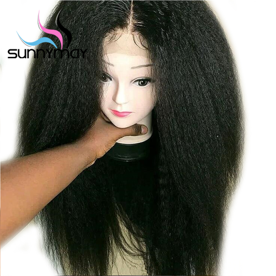 Sunnymay 13x4 կոպիտ ուղիղ կեղծամներ ՝ - Մարդու մազերը (սև) - Լուսանկար 2