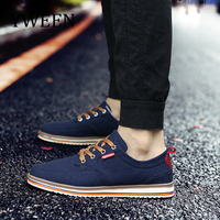 YWEEN Breathable Men Shoes Lace Up Canvas Shoes Men Luxury New Comfortable Men's Shoes Big Size 38 48