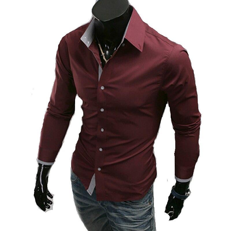 Popular Mens Long Sleeve Dress Shirts Cheap-Buy Cheap Mens Long ...