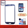 Note2 3 4 S4 S5 S6 Replacement LCD Front Touch Screen Glass Outer Lens 4.8'' For Samsung Galaxy S3 with Film+Tools+Adhesive