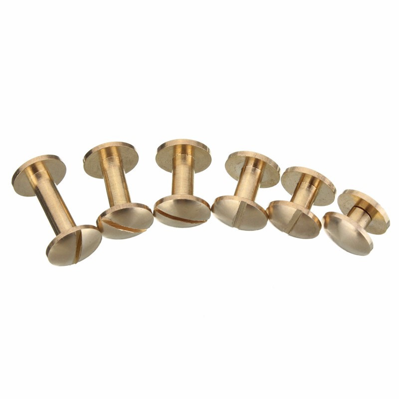 Solid Brass Arc Button Stud Screw Nail Rivet Back Belt for Sewing Handmade DIY Leather Accessories Material 4 6 8 10 12 15mm