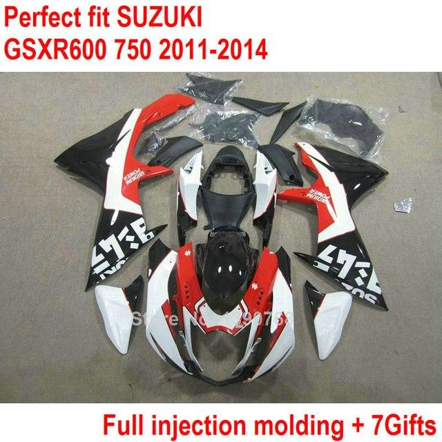 US $427 8 8% OFF OEM fairing kit for Suzuki GSXR 600 GSXR 750 11 12 13 14  white red black fairings set GSXR600 2011 2012 2013 2014-in Covers &