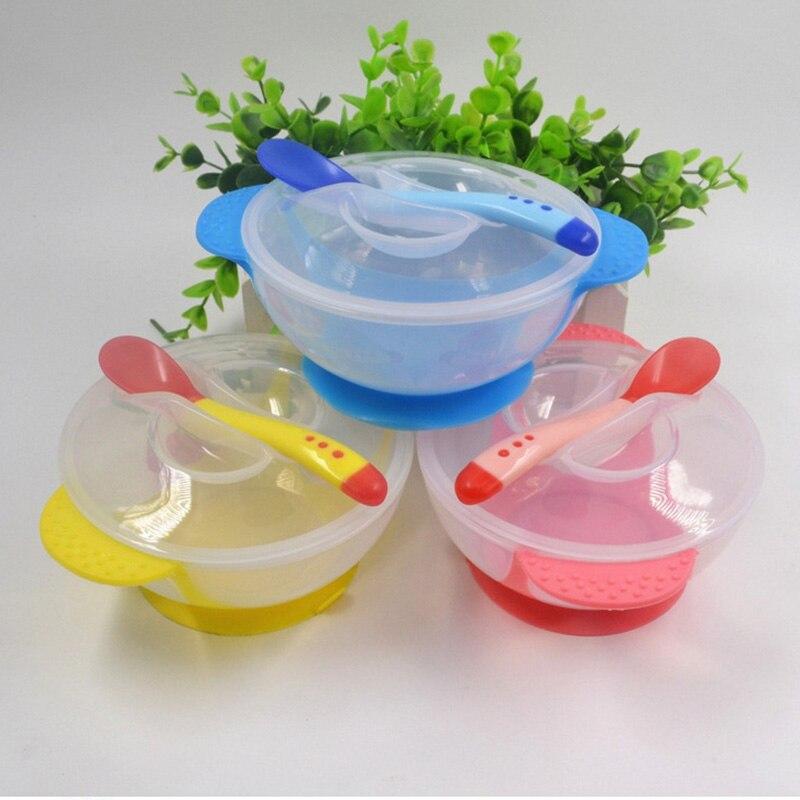 Росицки 2 шт./лот детское питание посуда дети плиты присоски чаши малыша кормления детей обучение чаша с ложкой обучения блюд