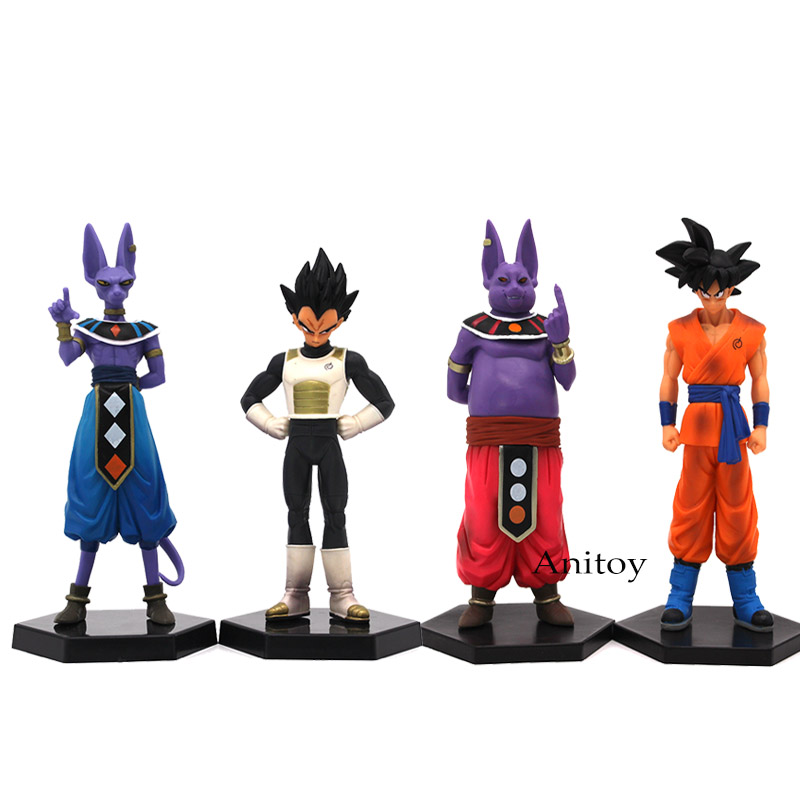 где купить Anime Dragon Ball Z 2pcs/set Son Goku Champa & Kakarotto Vegeta and BeerusPVC Action Figure Collectible Model Toy 16-17cm по лучшей цене