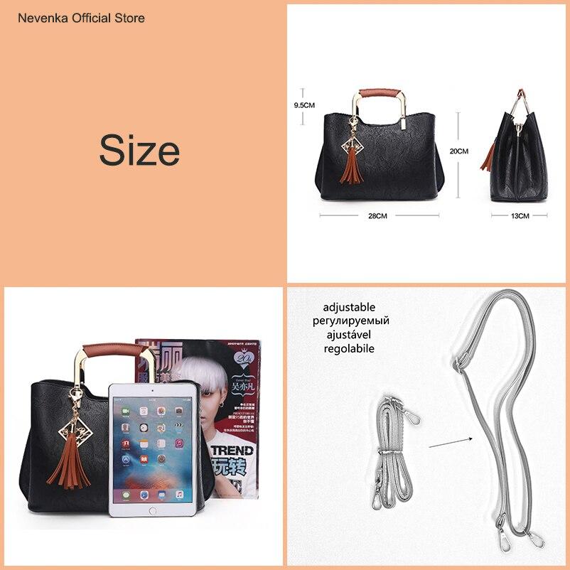 Nevenka Brand Design Women Luxury Handbags Female Tassel Sequined Messenger Bag Quality Leather Tote Solid Zipper Evening Bags01