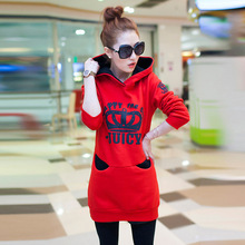 2017 Spring Autumn Women's Sweatshirt Loose Hooded Jacket Thicken Velvet Long Sleeve Sweatshirt Women National Wind Hoodies