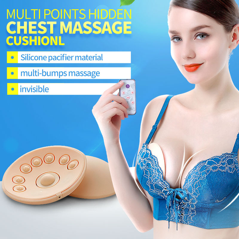 HOT SALE Breast enlargement Health care beauty enhancer Grow Bigger Magic Vibrating massage bra & breast head massager vibrators magic breast enlargement enhancer massager bra electric nipples shock vibrating therapy bra massager relax health beauty care