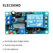 цена на 5V12V normally open trigger delay circuit relay module timing vibration alarm optocoupler isolation Function demo Board