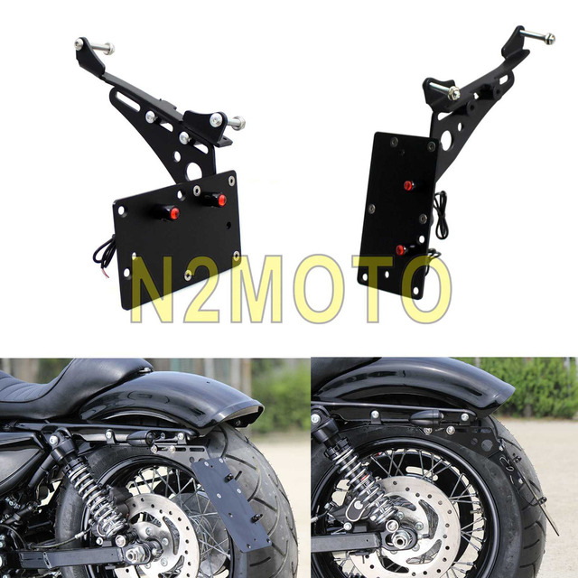 Motorcycle LED Licence Plate Frame Side Mount Horizontal Vertical ...
