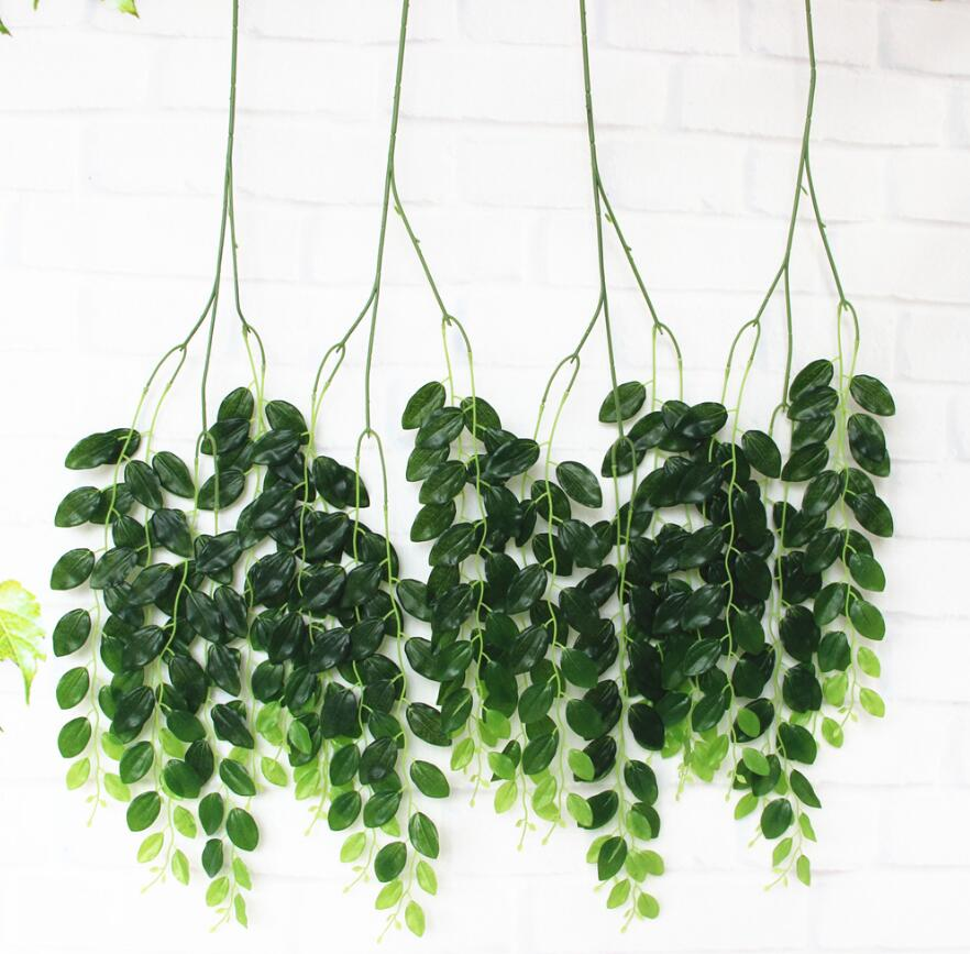 5pcs hanging artificial jujube tree leaf vine greenery for plant