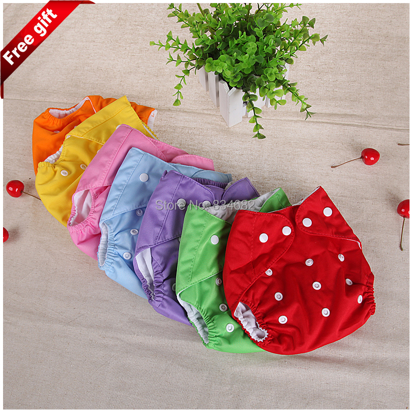 J.G Chen 1 Cloth Diaper + 1 Insert Adjustable Baby Infant Nappy Reusable Washable Diapers 7 Colors,With 2 layer microfiber liner