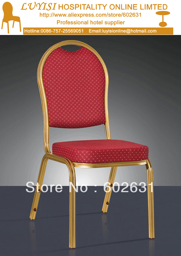 Stacking Aluminum Banquet chair LYS L302,Mould memery seat with high density,commercial fabric,5 year warranty.