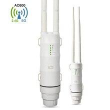 Computer Office - Networking - Outdoor Wifi Repeater AC600 Wireless Wi-fi Range Extender Amplifier 5G+2.4G Waterproof 27dBm 802.11 B/g/n/ac Wifi Router/AP WISP