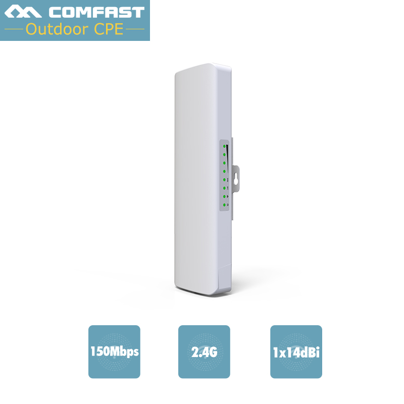 High Power WiFi Wireless Access Point Network Bridge AP CPE 48V POE Router Network AP WiFi CF-E214N USA Stock outdoor cpe 5 8g wifi router 200mw 1 3km 300mbps wireless access point cpe wifi router with 48v poe adapter wifi bridge cf e312a