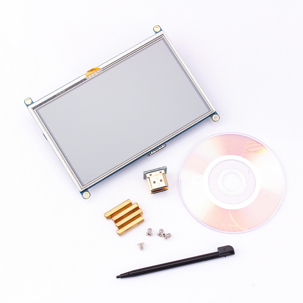 <font><b>5</b></font> <font><b>inch</b></font> LCD HDMI Resistive Touch Screen <font><b>Display</b></font> TFT 800*480 Panel Module GPIO Driver for <font><b>Raspberry</b></font> <font><b>Pi</b></font> Mode A+ B B+ PI2 Brand New image