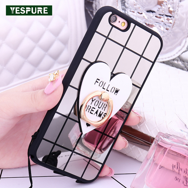 YESPURE Soft Bling Paillettes Case for Apple Iphone 6 6s Case TPU Mobile  Phone Covers for Girls Women Cheap Phone Cases Black 26534cb0ee