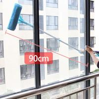 Telescopic Folding Long Handle Cleaning Brush Glass Sponge Mop Fur Cleaner Window Retractable Glass Brush