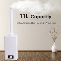 11L Ultrasonic Industry Commercial Humidifier High Efficient Nano Sprayer Diffuser Electric Air Humidifier Purifier