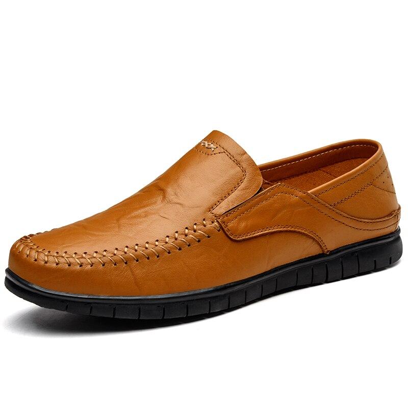 Bureau Lumière 37 Loisirs Conduite Mocassins Cuir Respirant Brown Appartements marron yellow En Formelle Casual Main Chaussures Noir Sneakers Taille Hommes 45 zZ077