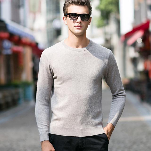 Pullover Men Knitwear 100% Wool Spring Mens Sweater Pullovers Male Casual Sweaters Classic Simple Solid Color Men Sweater 10