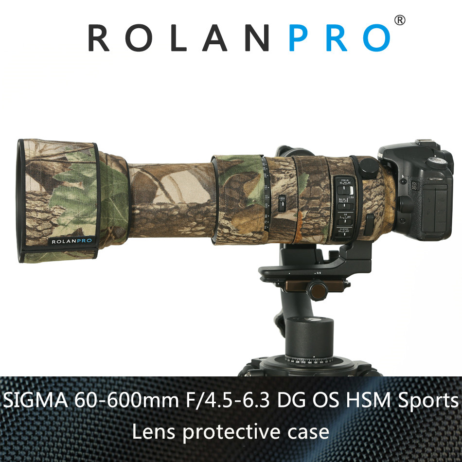 ROLANPRO Camera Lens Coat Camouflage Rain Cover for SIGMA 60 600mm f4 5 6 3 DG