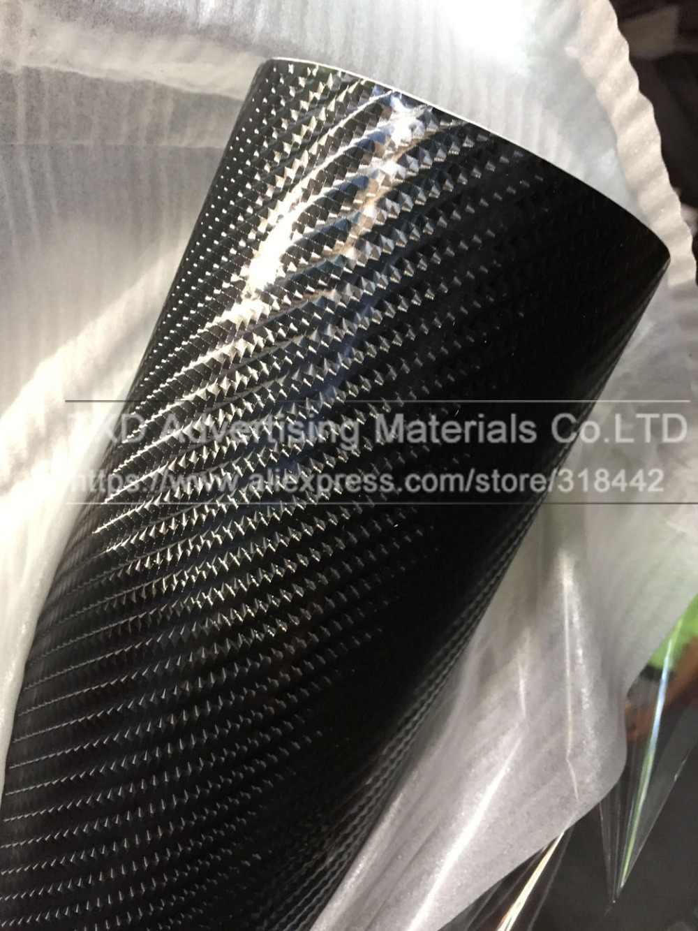 Gratis verzending 1.52X5M (5FTX16. 4FT) 6D carbon vinyl sticker met lucht gratis bellen voor auto full body wrap decoratie