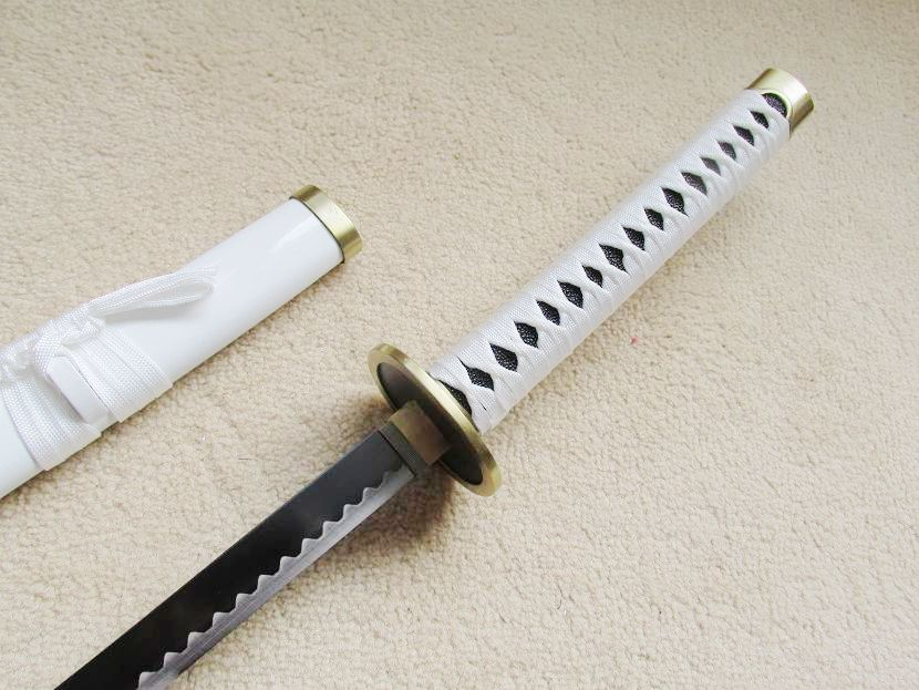 "41"" One Piece Roronoa Zoro/'s Wado Ichimonji Sword Steel Anime Katana Cosplay New"
