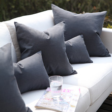 Nordic super quality dark grey cowboy cushion cover 45*45cm solid cotton decorative pillow cover home sofa office bar pillowcase