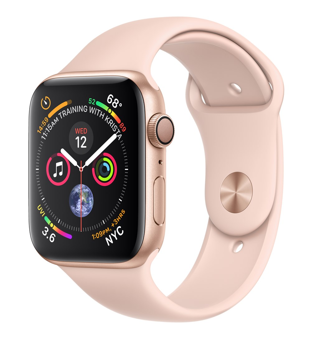 APPLEWATCH S4 GPS 44MM GOLD ALUM CASE PINK SAND IN