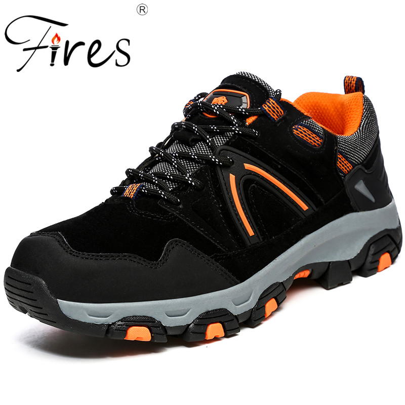 Fires Men Hiking Shoes High Quality Sport Shoes Waterproof Winter Outdoor Climbing Shoes Comfortable Non-slip Sneaker Zapatillas dark fires