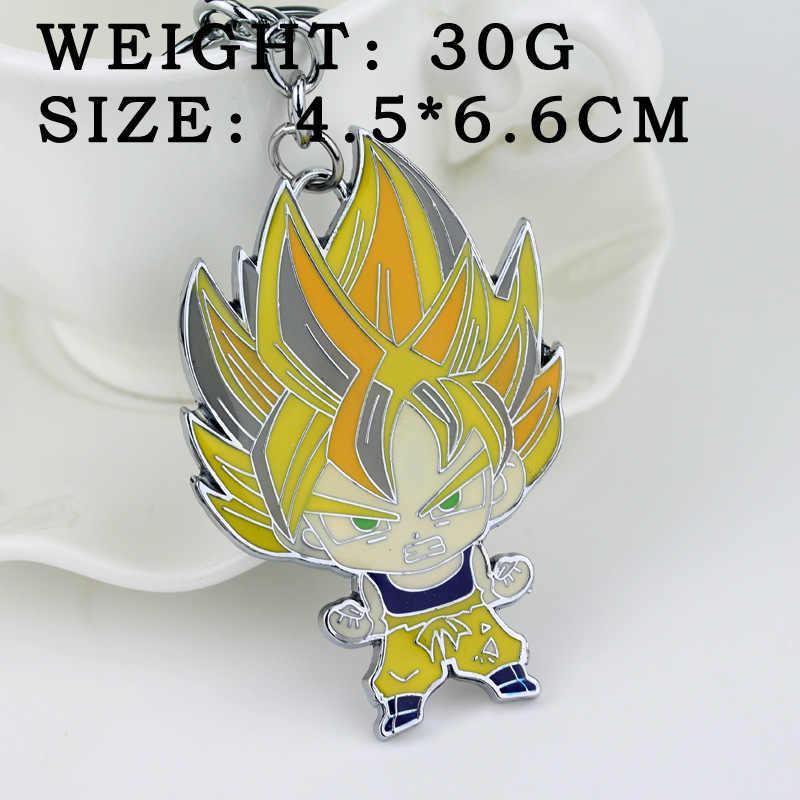 Dragon ball z Super Saiyan Goku Vegeta 3 Celular chaveiro anel 2016 New Dragon ball z goku figura resina estatueta vegeta chaveiro