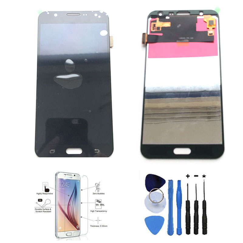 New 100% Tested LCD Display Touch Screen Digitizer Adjust Brightness For Samsung Galaxy J7 J700F J700M J700H With Feee Tools brand new tested lcd display touch screen digitizer assembly for samaung galaxy e5 e500f h hq m f h ds replacement parts