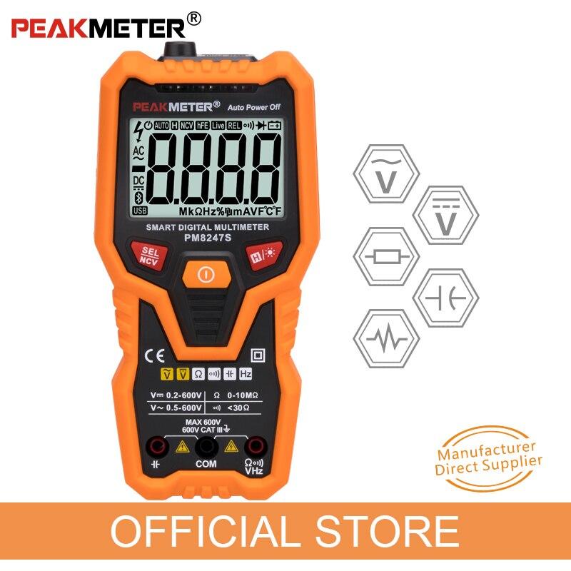 PEAKMETER PM8247S Smart AutoRange Professional Digital Multimeter Voltmeter with NCV Frequency Backlight цены онлайн
