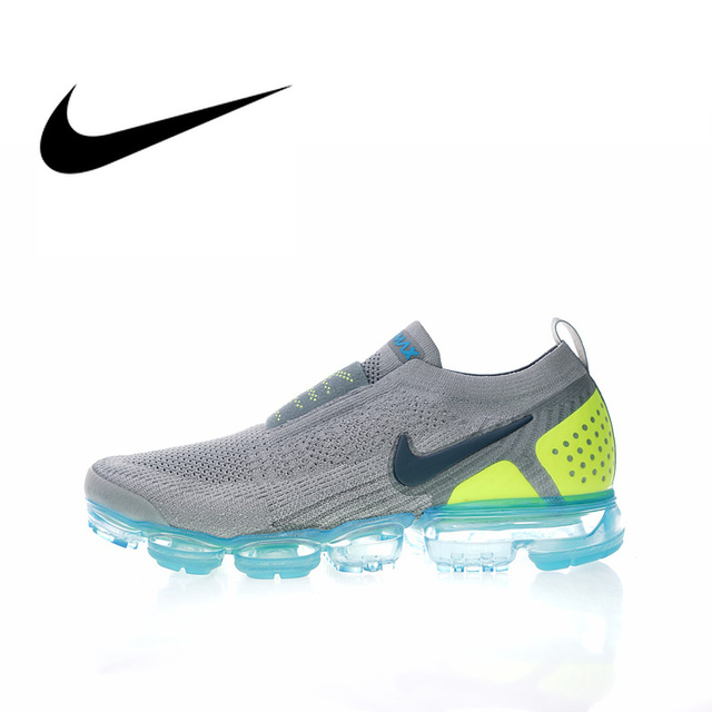 08adcc23820e1 Original Authentic NIKE AIR VAPORMAX FK MOC 2 Mens Running Shoes Sneakers  Sport Outdoor Designer Footwear 2019 New Arrival