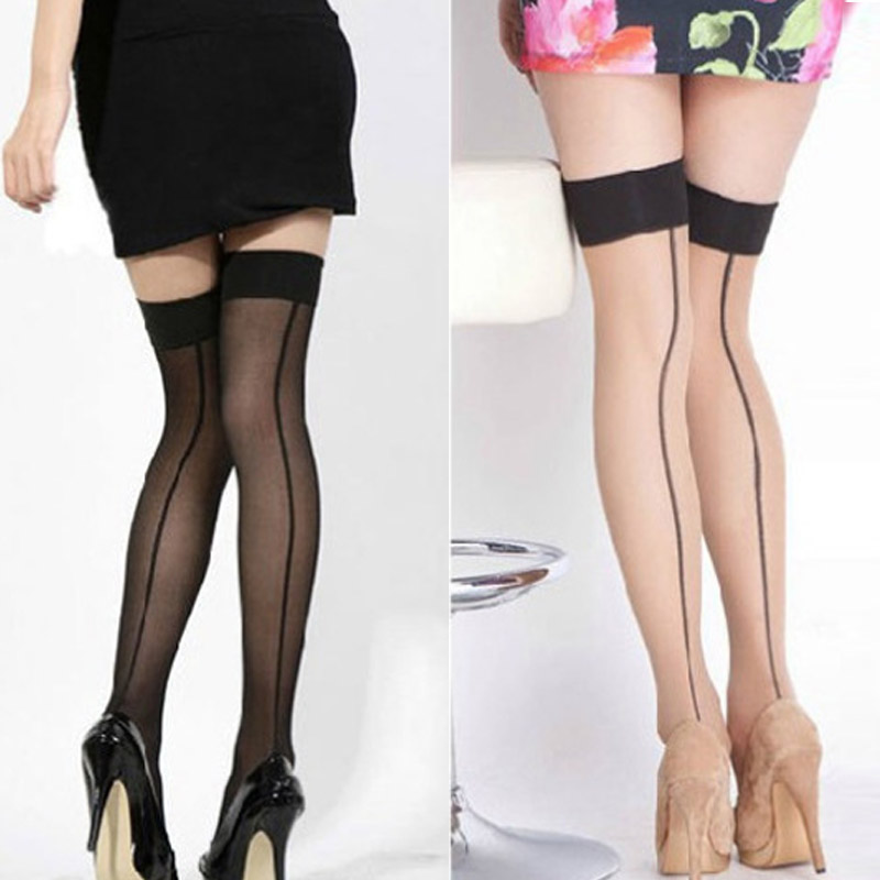 Droppshiping Summer Women Thigh High Stocking Over The knee Socks Sexy Hosiery Stay Up Stockings BFJ55