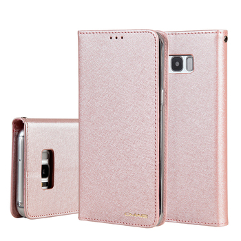 CMAI2 For Samsung S8 Plus note8 note9 Case Leather Silk Magnetic Flip PU Wallet Cover For S9 Plus S7Edge Case Stand Cards Pocket image