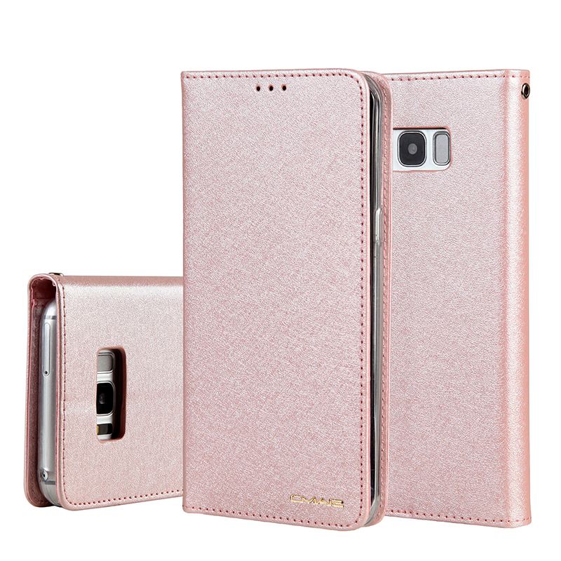 CMAI2 For <font><b>Samsung</b></font> S8 Plus <font><b>note8</b></font> note9 <font><b>Case</b></font> Leather Silk Magnetic Flip PU Wallet Cover For S9 Plus S7Edge <font><b>Case</b></font> Stand Cards Pocket image