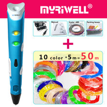 myriwell 3d pen 3d pens,50m1.75mmABS/PLA Filament,3 d pen3d model,Creative3d printing pen,Best Gift for Kids DIY creative,pen-3d