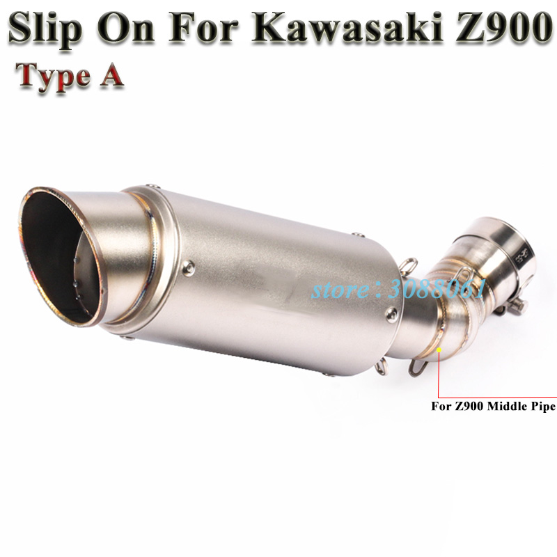 ISTUNT Motorcycle Exhaust Modified Middle Link Pipe 2 Inch Slip on Stainless Steel Mid pipe for Kawasaki Z900 2017 2018