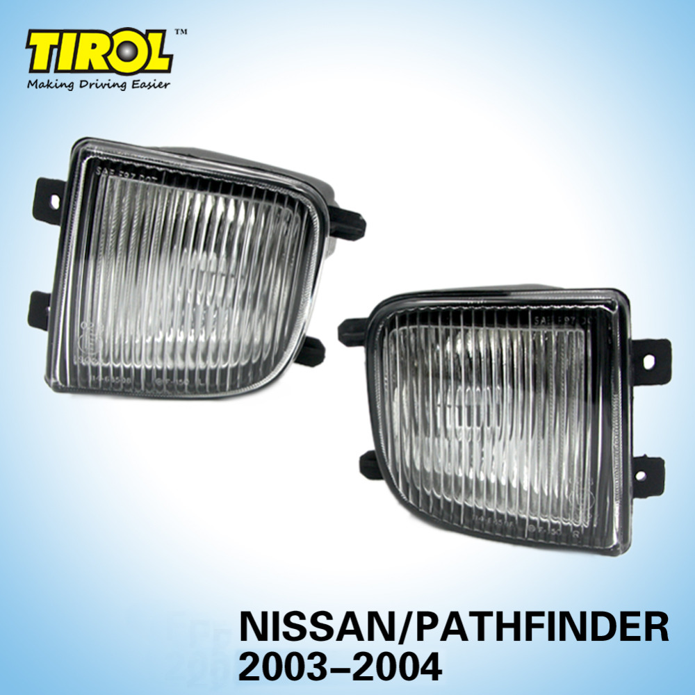 Tirol T16568a Fog Driving Light Lamp kit OEM Replacement for Pathfinder Pickup Truck Smoke Front Bumper Lamps Pair Free Shipping free shipping new pair halogen front fog lamp fog light for vw t5 polo crafter transporter campmob 7h0941699b 7h0941700b