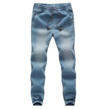 Новый мужская мода джинсы стрейч тонкий брюки хип-хоп тенденции.